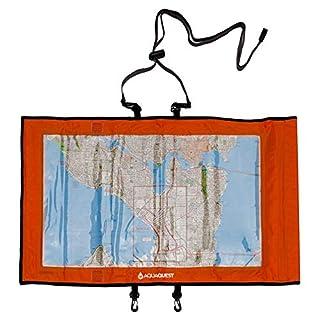 Aqua Quest TRAIL Map Case - 100% Waterproof Document Dry Bag Holder with Clear Window & Lanyard (Orange)