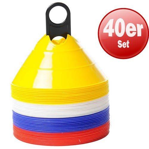 Markierungshütchen mit Auflage 40er Set Markierungsteller Hütchen Pylonen