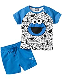 Puma Niños Sesame Street Infant Set Baby Set, infantil, Sesame Street Infant Set, French Blue, 18 meses (86 cm)