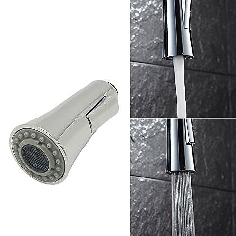 INCHANT Universal 1/2-pouces de bain Robinet de cuisine Robinet de tête de pulvérisation de remplacement Pull-Out Partie, Chrome poli