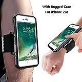 SPORTLINK Run Kit für iPhone 7, Handy Sportarmband iPhone 8 mit Verstellbarer Riemen, Handgelenkband Halterung Armbinde Handyhalter für Running Joggen Workout Fitness Radfahren (Schwarz)