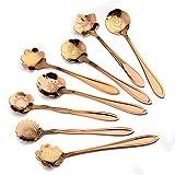 tropicalboy fiori cucchiaio set di 8cucchiaini da caffè in acciaio inox cucchiaino disegno Dessert Cucchiaio Cucchiaio da zucchero Rosagold