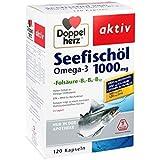 Doppelherz Seefischöl Omega-3 1000 mg+Fols. Kapsel 120 stk