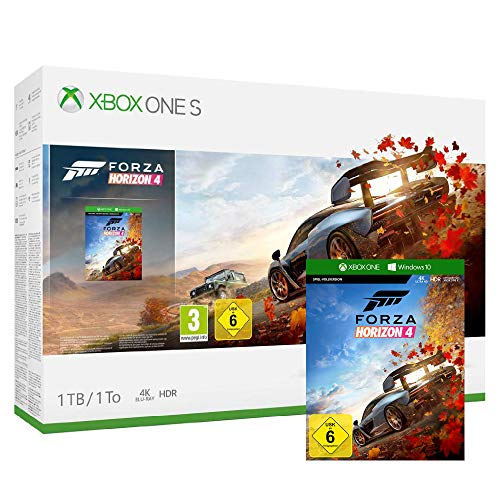 Pack Xbox One S 1 To - Forza Horizon 4 + codes Gears of War 4 + Rare Replay + Halo 5