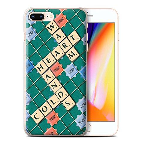 Stuff4 Hülle / Case für Apple iPhone 8 Plus / Süße Rache Muster / Scrabble Worte Kollektion Warmes Herz