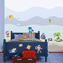 STIKID- Piratas y tesoros - 217x43 cm - pegatinas de pared | wall stickers | vinilos infantiles |