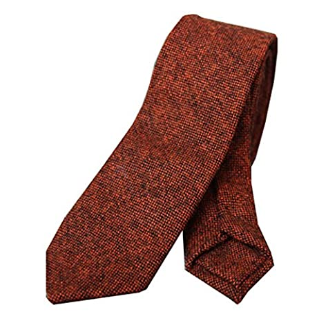 Costume Homme Slim Laine - 100% Handmade Cravate Slim Etroite 6CM En