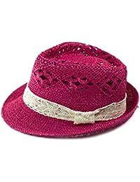 señora tapa de la sombrilla del verano sombreros de paja pimienta es hueco-hacia fuera del sombrero de encaje , red