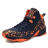 ASHION Herren Basketball Schuhe Outdoorschuhe Basketballstiefel Sneaker Sportschuhe(Orange EU45)