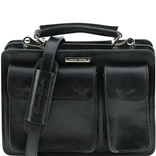 Tuscany Leather Tania Borsa a mano in pelle da donna Miele Nero