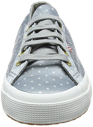 Superga - 2750 Dotsatinw, Scarpe da ginnastica Unisex – Adulto Bianco (Grey Dots White)