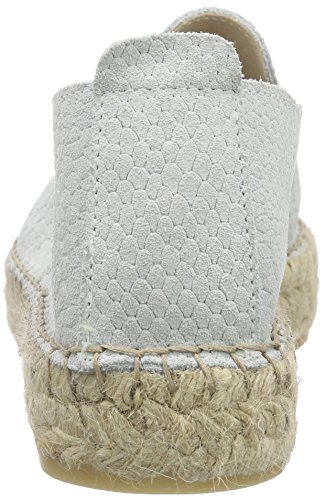 Pieces Kayla Suede Espadrillos, Espadrilles femme Blanc - Weiß (Bright White)