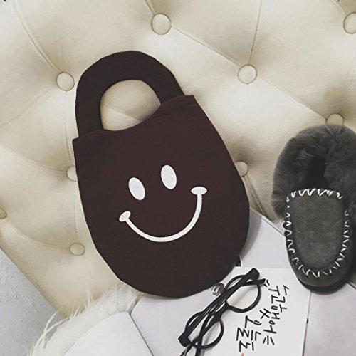BZLine® Baby Kindertaschen Lächeln Gesicht Crossbody Handbag Purse Kaffee