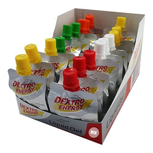 Dextro Energy Liquid Gel 18 x 60ml Mix-Pack   3 Beutel von 6 Sorten   originalverschweißt   Energiegel, Ausdauergel