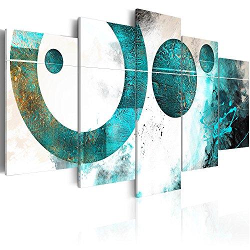 murando - Cuadro acústico Abstracto geometrico 200x100 cm - decoración de pared - aislamiento acústico - lienzo de tejido no tejido - absorción de sonidos - 5 piezas - Cuadros XXL - absorbentes acústicos - panel de pared - silencio a-A-0229-b-m