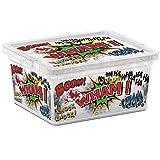 Kis 8406000 1838 01 Boîte de Rangement C Box Style Comics 2 litres, Plastique, Multicolore, 19,5x16,5x9,5 cm