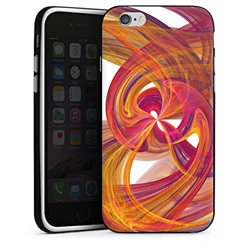 Apple iPhone 5s Housse Étui Protection Coque Spirale Peinture Abstrait Housse en silicone noir / blanc