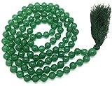 Givereldi Avventurina verde mala beads necklace bracelet 108 beads 6 mm wide - with knots in between plus 1 large guru bead - prayer, meditation or tassel necklace