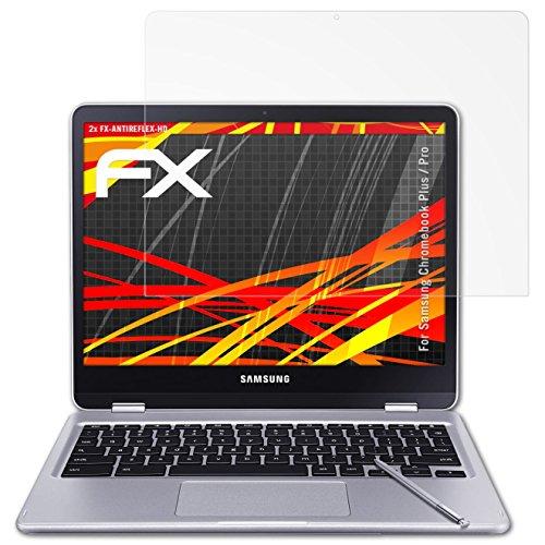 atFolix Schutzfolie kompatibel mit Samsung Chromebook Plus/Pro Bildschirmschutzfolie, HD-Entspiegelung FX Folie (2X)