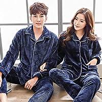 YTNGA Pijamas De Mujer Pijamas para Mujeres Amor Hombres Engrosamiento Ropa de Dormir cálida Conjunto de Pijamas Sleep Lounge para Mujeres, 35125 Rojo Oscuro, XL