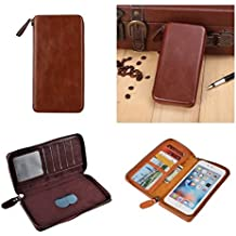 DFV mobile - Executive Wallet Case with Magnetic Fixation and Zipper Closure for => BLACKVIEW ULTRA PLUS > Coffee