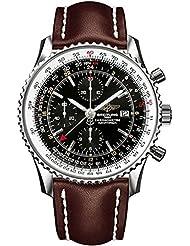 Breitling Herren-Armbanduhr Navitimer Chronograph Automatik Leder A2432212/B726/443X
