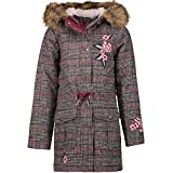 s.Oliver RED Label Junior Mädchen Glencheck-Wollmantel mit Embroidery Black Check 140