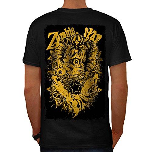 Tod König Komisch Zombie Böse Königin Herren M T-shirt Zurück   (König Kostüm Indischen)