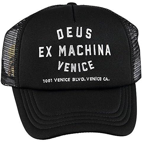 Deus Ex Machina Venice Address Trucker Cap - Black One Size