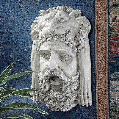 Design Toscano Hercules Bust with Nemean Lion Headdress Wall