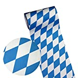 JUNOPAX 50m*0,20m Papier Tischband Raute weiß-blau