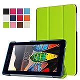 WiTa-Store Hülle für Lenovo Tab 3 TB3-710 F/I 7.0 Zoll Schutzhülle Etui Tablet Tasche Smart Cover 710F 710L (Grün)