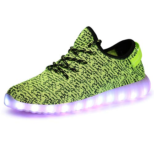 05ffc5c473edf Adong Boys Girls Light up Trainers Kids LED Shoes mit Lights High Top  Flashing Shoes USB