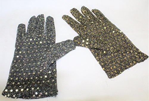 Pailletten-Handschuhe, sortierte Farben, Fasching, Karneval, Mottoparty (Gold)