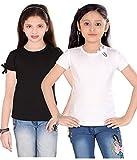 #5: Sini Mini Girls Cotton 2 Pcs Combo White and Black