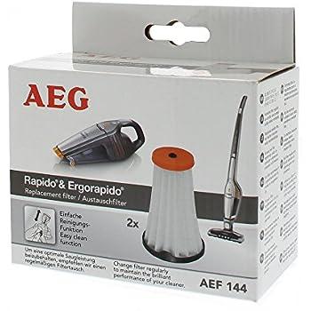 AEG AEF144 Austauschfilter, 2 Stück, Passend für AEG Rapido AG51/AG61/HX6, Ergorapido AG18/AG30/AG31/AG32/AG35/CX7