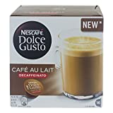 Nescafé Dolce Gusto Cafe au Lait Decaffeinato, Entkoffeinierter Kaffee, Kaffeekapsel, 16 Kapseln