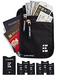 Portadocumentos de Viaje con Protección RFID - Cartera para Colgar y Porta Pasaporte