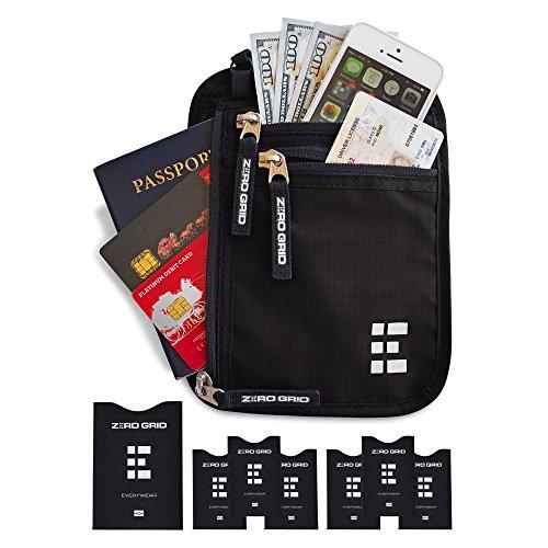 Portadocumentos de Viaje para Colgar con Protección RFID - Cartera de Viaje & Portapasaporte