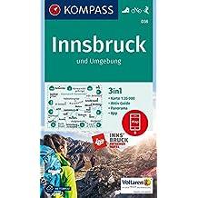 Innsbruck und Umgebung: 3in1 Wanderkarte 1:35000 mit Aktiv Guide und Panorama inklusive Karte zur offline Verwendung in der KOMPASS-App. Fahrradfahren. Skitouren. (KOMPASS-Wanderkarten, Band 36)