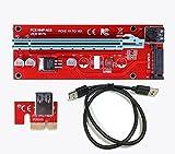 DKEY Riser Usb V007 PCI-E 1 X a 16 X cavo di estensione USB 3.0 per Mining Rig Bitcoin e altre immagine