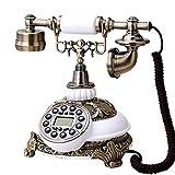 Ligne téléphonique rétro européenne classique Téléphone rétro / téléphone à cadran / téléphone de style rétro / téléphone à l'ancienne / téléphone de bureau classique avec composeur à cadran, téléphon