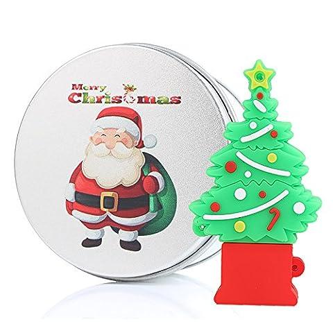 cadeau de Noël CLÉ USB 16GB Dessin animé Mignonne Christmas chien arbre rennes Emballage avec une belle boîte 16GO mémoire USB flash drive
