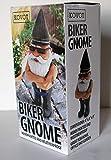 kovot Biker Gnome-22,9cm H Gartenzwerg Biker, wetterfest Statue