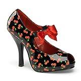 Pin Up Couture Pinup Couture CUTIEPIE-07 - Zapatos de Vestir Para Mujer, Color Negro, Talla 35 EU/5 US
