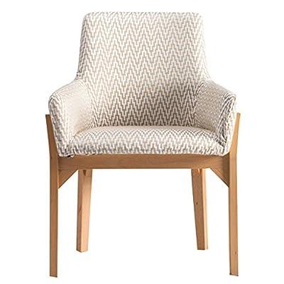 Sessel Lounge-Sessel Yogastuhl Esszimmerstuhl aus Massivem Holz Schreibtischstuhl Einzelner Freizeitholzstuhl Stoff Sofa Stuhl Bürostuhl Abwaschbares Design Pflegeleicht Hausbar