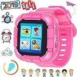 Gioco Smart Watch per Bambini Ragazze Ragazzi con macchina fotografica 1.5 '' Touch Orologio 10 Giochi Pedometro Timer Sveglia Giocattolo Smartwatch Orologio da polso Monitor di salute (01Rosa)