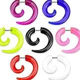 Kultpiercing - Fake Piercing Plug Spirale - Acryl - pink