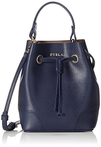 Furla-Damen-Stacy-Mini-Drawstring-Schultertasche-Blau-Navy-95-x-185-x-155-cm