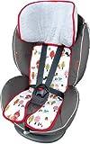 Priebes Sitzeinlage Tom für Kindersitze Gruppe 1 | Schonbezug 100 % Baumwolle | waschbar & atmungsaktiv | einfache Befestigung | seitlicher Kopfschutz | beidseitig verwendbar für Sommer und Winter, Design:rotkäpchen